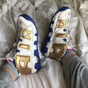 Nike air more uptempo high top shoes